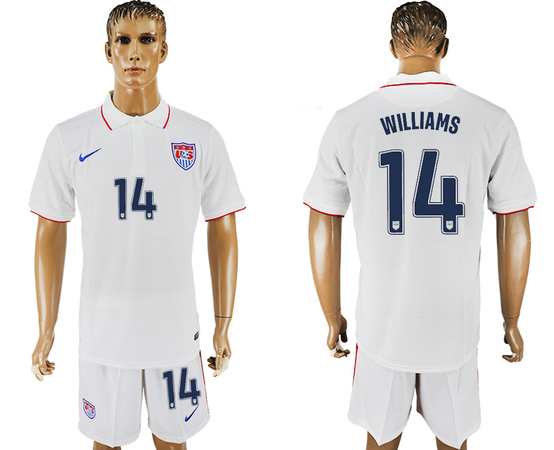 Men 2017-2018 National United States home 14 white soccer jersey