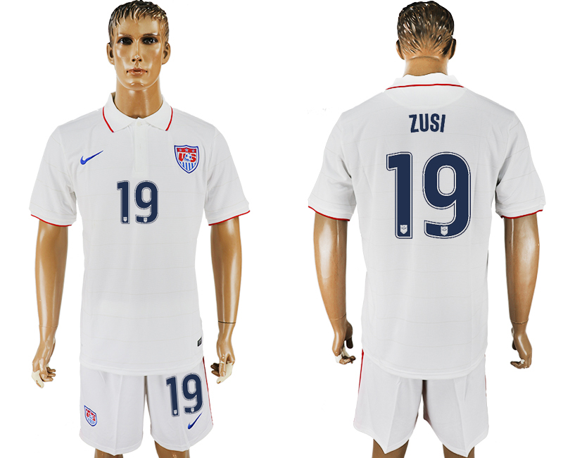 Men 2017-2018 National United States home 19 white soccer jersey