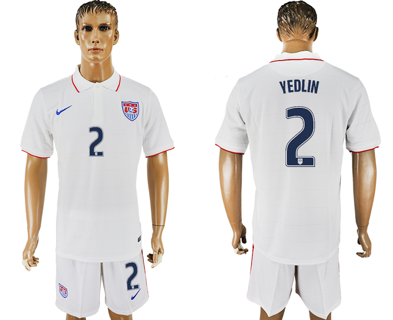 Men 2017-2018 National United States home 2 white soccer jersey