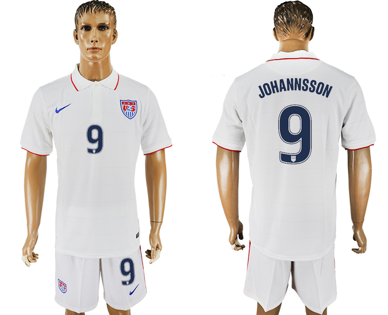Men 2017-2018 National United States home 9 white soccer jersey