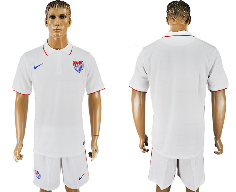 Men 2017-2018 National United States home blank white soccer jersey