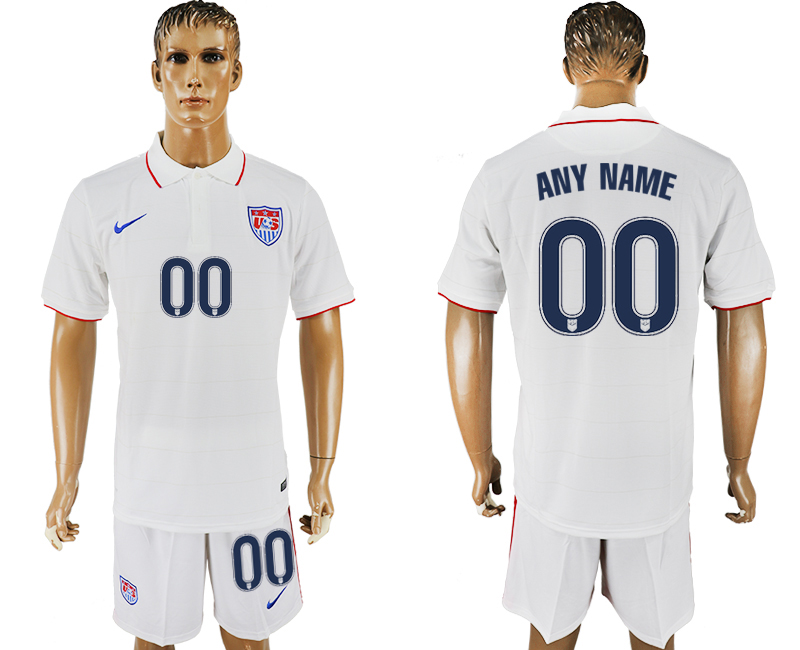 Men 2017-2018 National United States home customized white soccer jersey
