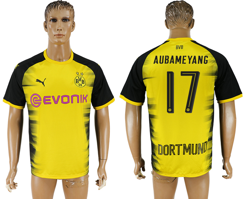 Men 2017-2018 club Dortmund international 17 yellow aaa version soccer jersey