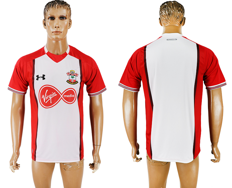 Men 2017-2018 club Southampton home blank white aaa version soccer jersey