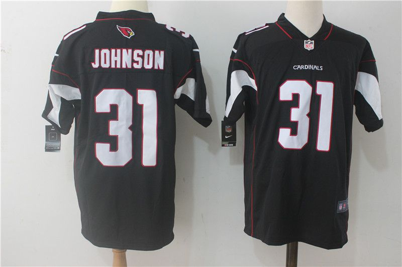 Men Arizona Cardinals 31 Johnson Black Nike Vapor Untouchable Limited NFL Jerseys
