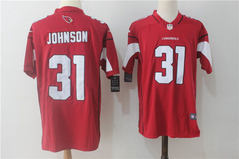 Men Arizona Cardinals 31 Johnson Red Nike Vapor Untouchable Limited NFL Jerseys