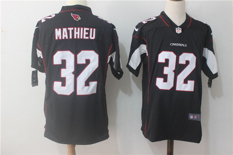 Men Arizona Cardinals 32 Mathieu Black Nike Vapor Untouchable Limited NFL Jerseys