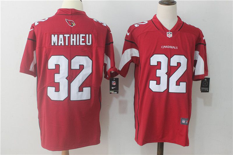 Men Arizona Cardinals 32 Mathieu Red Nike Vapor Untouchable Limited NFL Jerseys