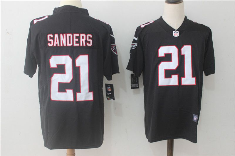 Men Atlanta Falcons 21 Sanders Black Nike Vapor Untouchable Limited NFL Jerseys
