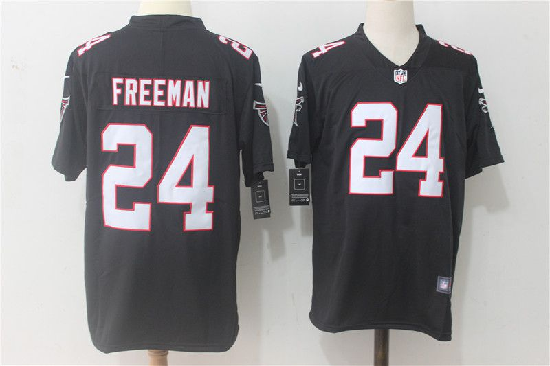 Men Atlanta Falcons 24 Freeman Black Nike Vapor Untouchable Limited NFL Jerseys