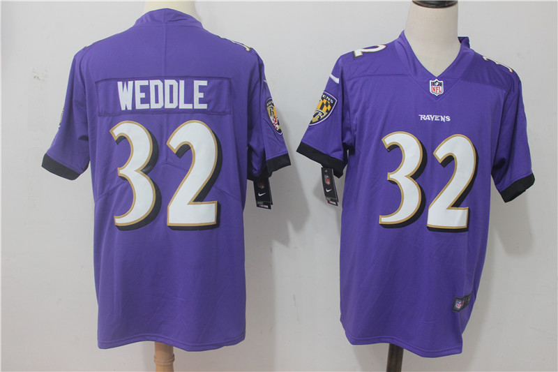 Men Baltimore Ravens 32 Weddle Purple Nike Vapor Untouchable Limited NFL Jerseys
