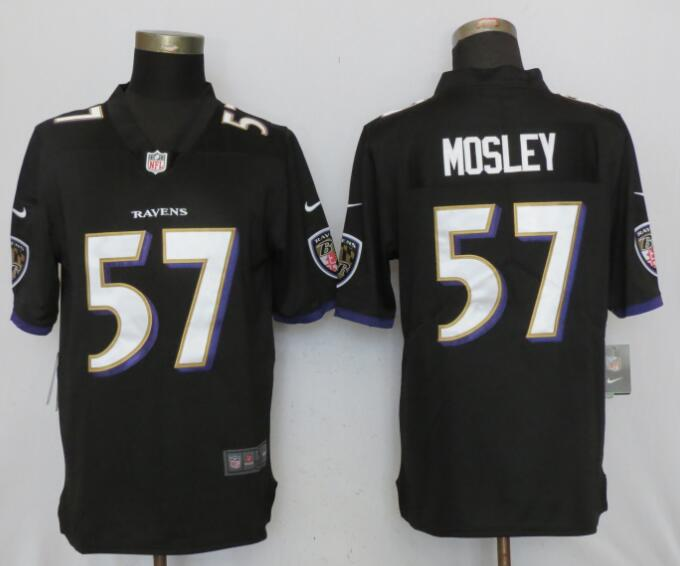 Men Baltimore Ravens 57 Mosley Black Nike Vapor Untouchable Limited NFL Jerseys