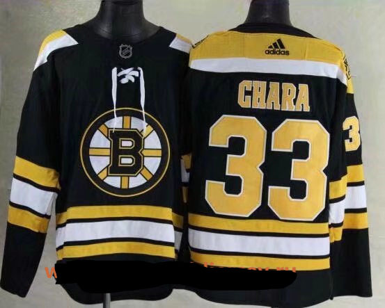 Men Boston Bruins 33 Zdeno Chara Black 2017-2018 Adidas Hockey Stitched NHL Jerseys