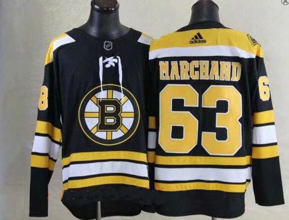 Men Boston Bruins 63 Brad Marchand Black 2017-2018 Adidas Hockey Stitched NHL Jerseys