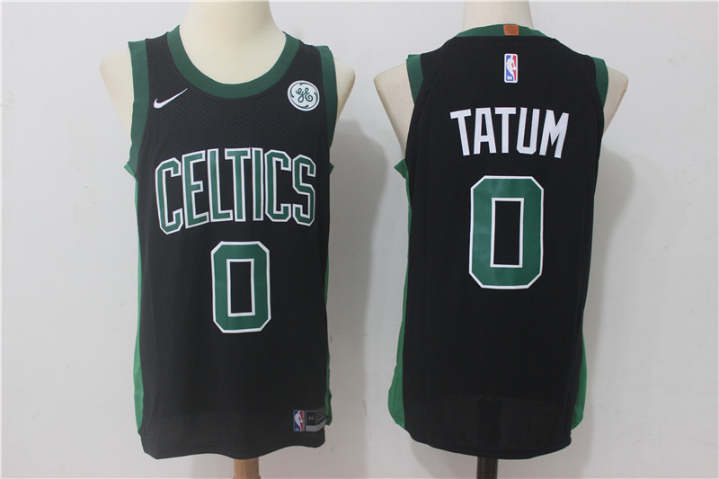 Men Boston Celtics 0 Tatum Black New Nike Season NBA Jerseys