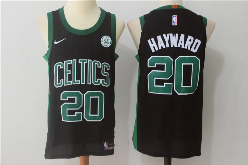 Men Boston Celtics 20 Hayward Black New Nike Season NBA Jerseys