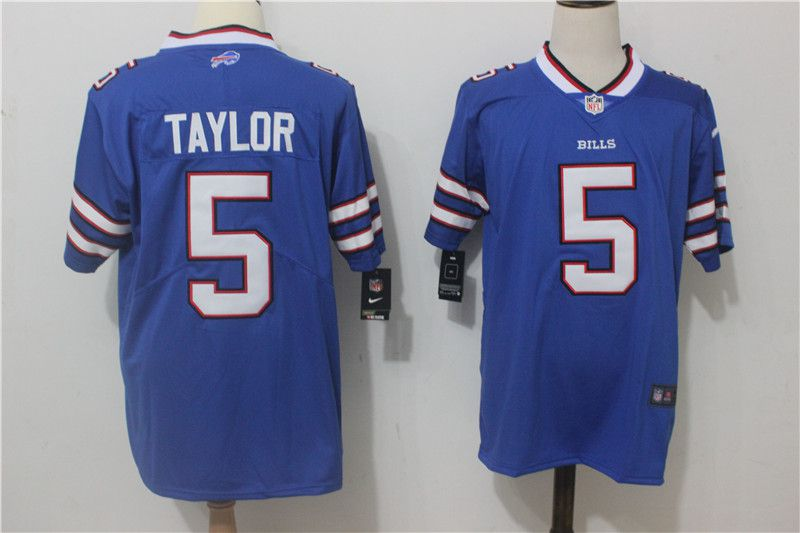 Men Buffalo Bills 5 Taylor Blue Nike Vapor Untouchable Limited NFL Jerseys