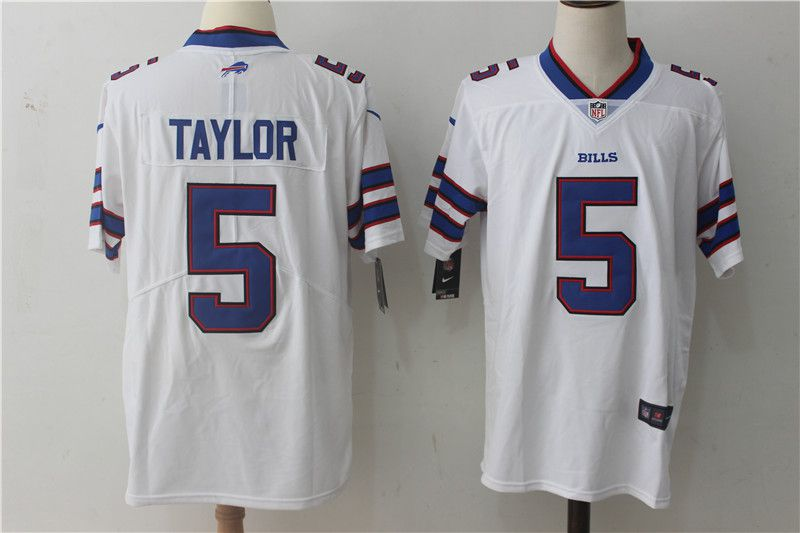 Men Buffalo Bills 5 Taylor White Nike Vapor Untouchable Limited NFL Jerseys