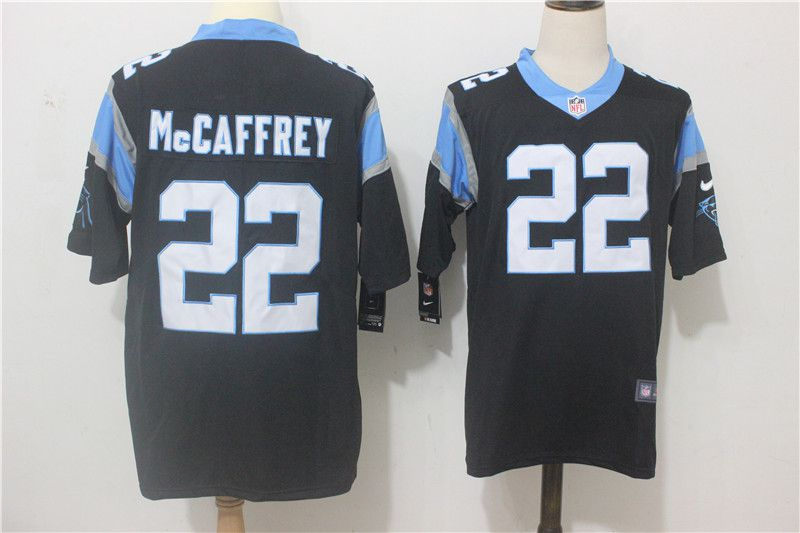 Men Carolina Panthers 22 Mccaffrey Black Nike Vapor Untouchable Limited NFL Jerseys