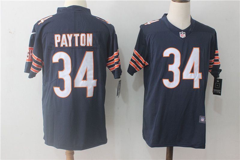 Men Chicago Bears 34 Payton Blue Nike Vapor Untouchable Limited NFL Jerseys