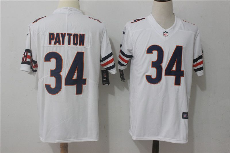 Men Chicago Bears 34 Payton White Nike Vapor Untouchable Limited NFL Jerseys