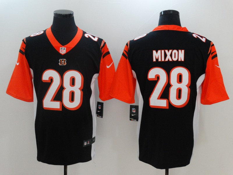 Men Cincinnati Bengals 28 Mixon Black Nike Vapor Untouchable Limited NFL Jerseys