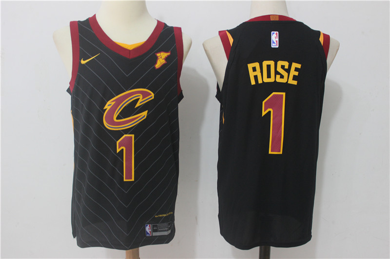 Men Cleveland Cavaliers 1 Rose Black New Nike Season NBA Jerseys