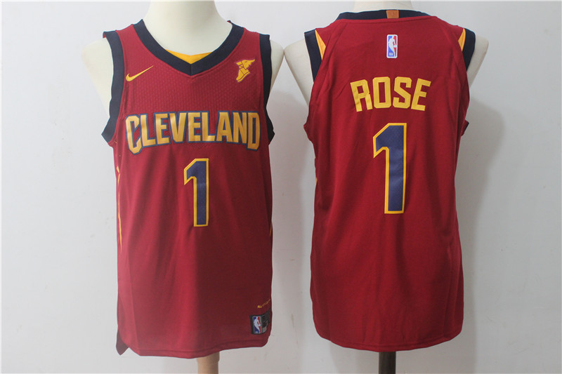 Men Cleveland Cavaliers 1 Rose Red NBA Jerseys