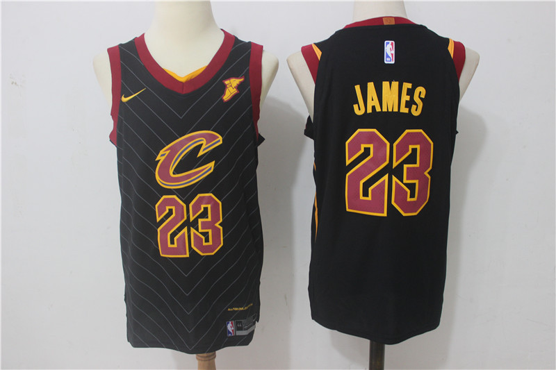 Men Cleveland Cavaliers 23 James Black New Nike Season NBA Jerseys