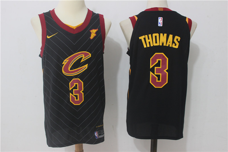 Men Cleveland Cavaliers 3 Thomas Black New Nike Season NBA Jerseys
