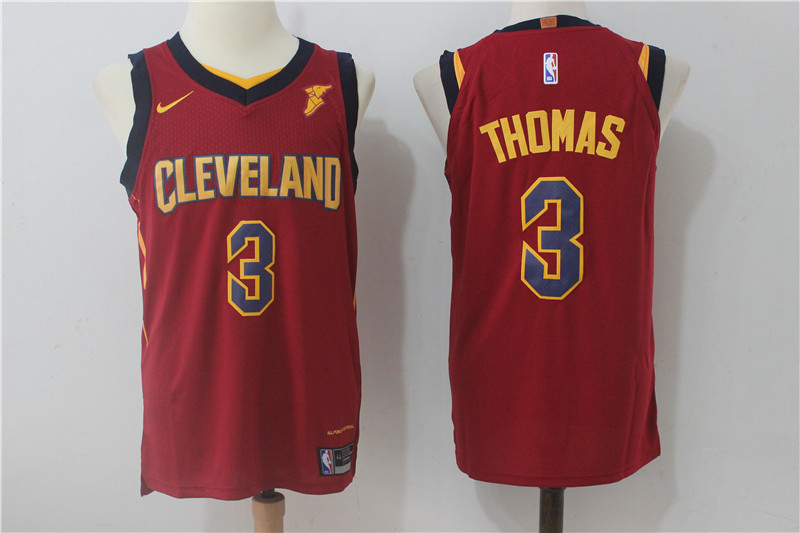 Men Cleveland Cavaliers 3 Thomas Red NBA Jerseys