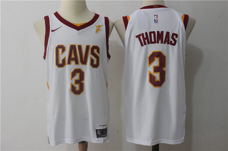 Men Cleveland Cavaliers 3 Thomas White NBA Jerseys
