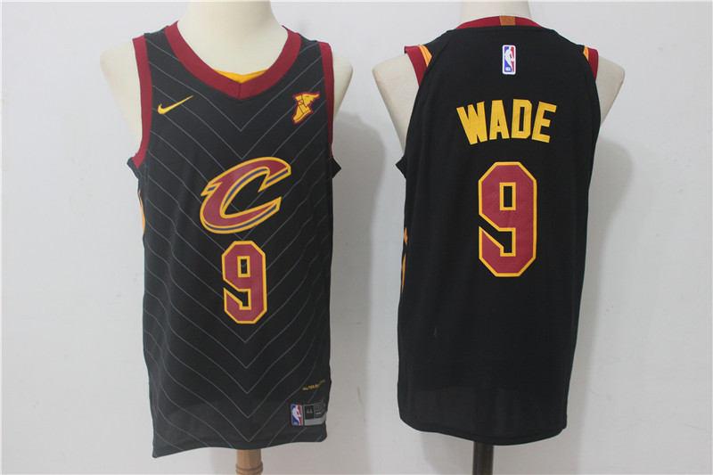 Men Cleveland Cavaliers 9 Dwyane Wade Black New Nike Season NBA Jerseys