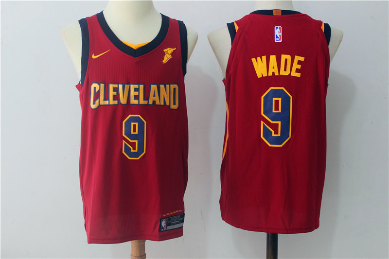 Men Cleveland Cavaliers 9 Dwyane Wade Red New Nike Season NBA Jerseys