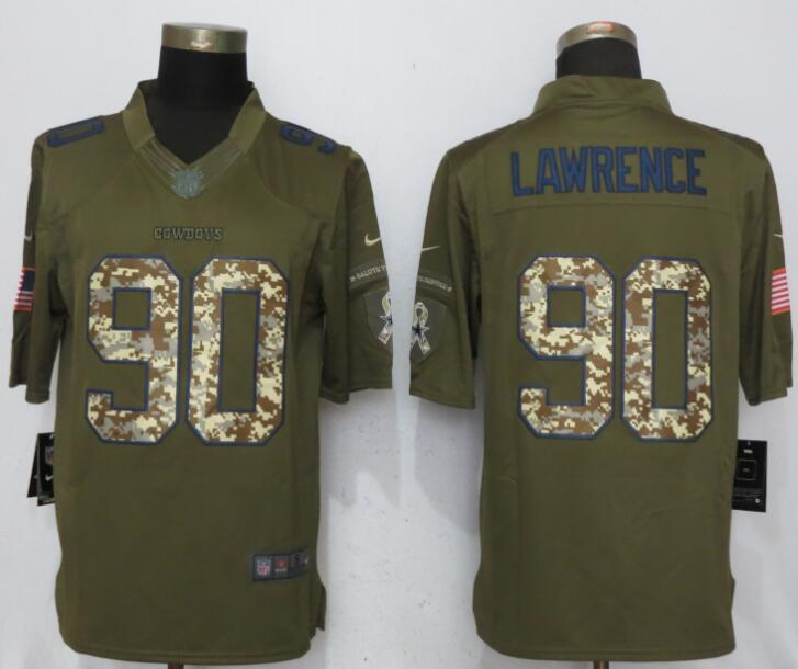 Men Dallas cowboys 90 Lawrence Green Nike Salute To Service Limited NFL Jerseys