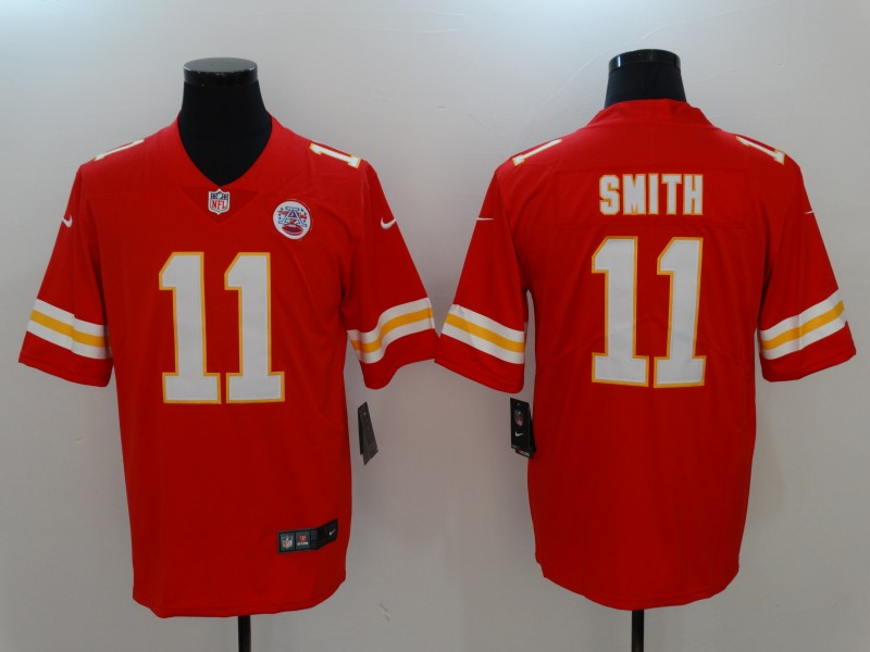 Men Kansas City Chiefs 11 Smith Red Nike Vapor Untouchable Limited NFL Jerseys