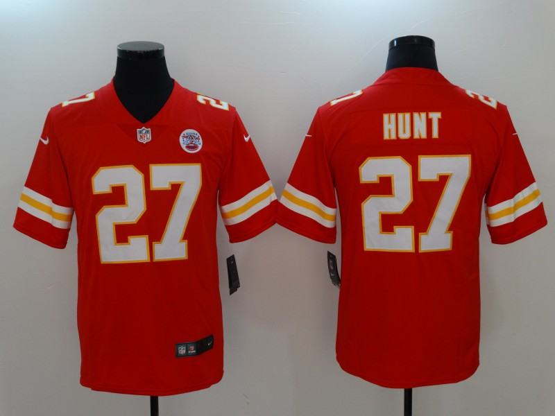 Men Kansas City Chiefs 27 Hunt Red Nike Vapor Untouchable Limited NFL Jerseys
