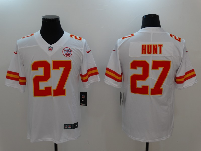 Men Kansas City Chiefs 27 Hunt WhiteNike Vapor Untouchable Limited NFL Jerseys