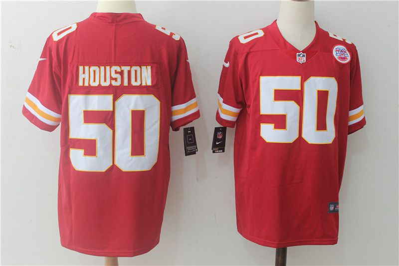 Men Kansas City Chiefs 50 Houston Red Nike Vapor Untouchable Limited NFL Jerseys