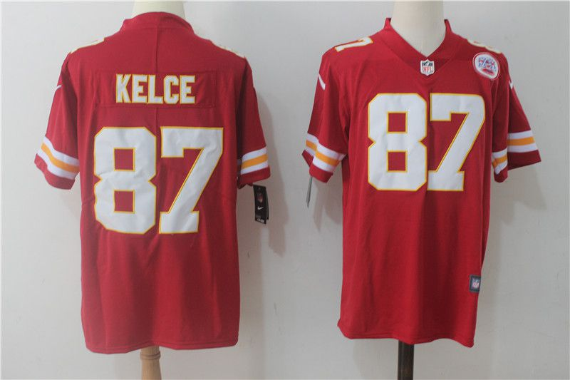 Men Kansas City Chiefs 87 Kelce Red Nike Vapor Untouchable Limited NFL Jerseys