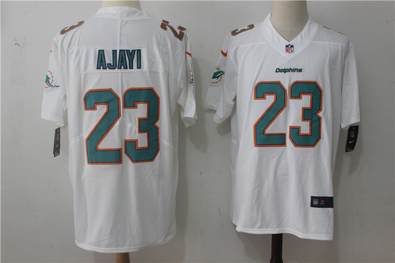Men Miami Dolphins 23 Ajayi White Nike Vapor Untouchable Limited NFL Jerseys