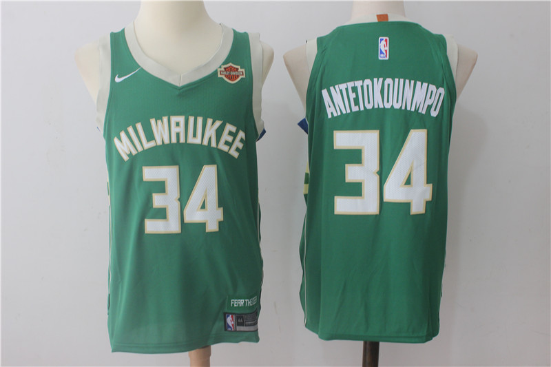 Men Milwaukee Bucks 34 Antetokounmpo Green New Nike Season NBA Jerseys