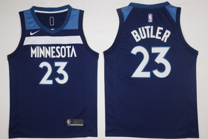 Men Minnesota Timberwolves 23 Jimmy Butler Blue New Nike Season NBA Jerseys