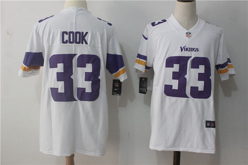 Men Minnesota Vikings 33 Cook White Nike Vapor Untouchable Limited NFL Jerseys