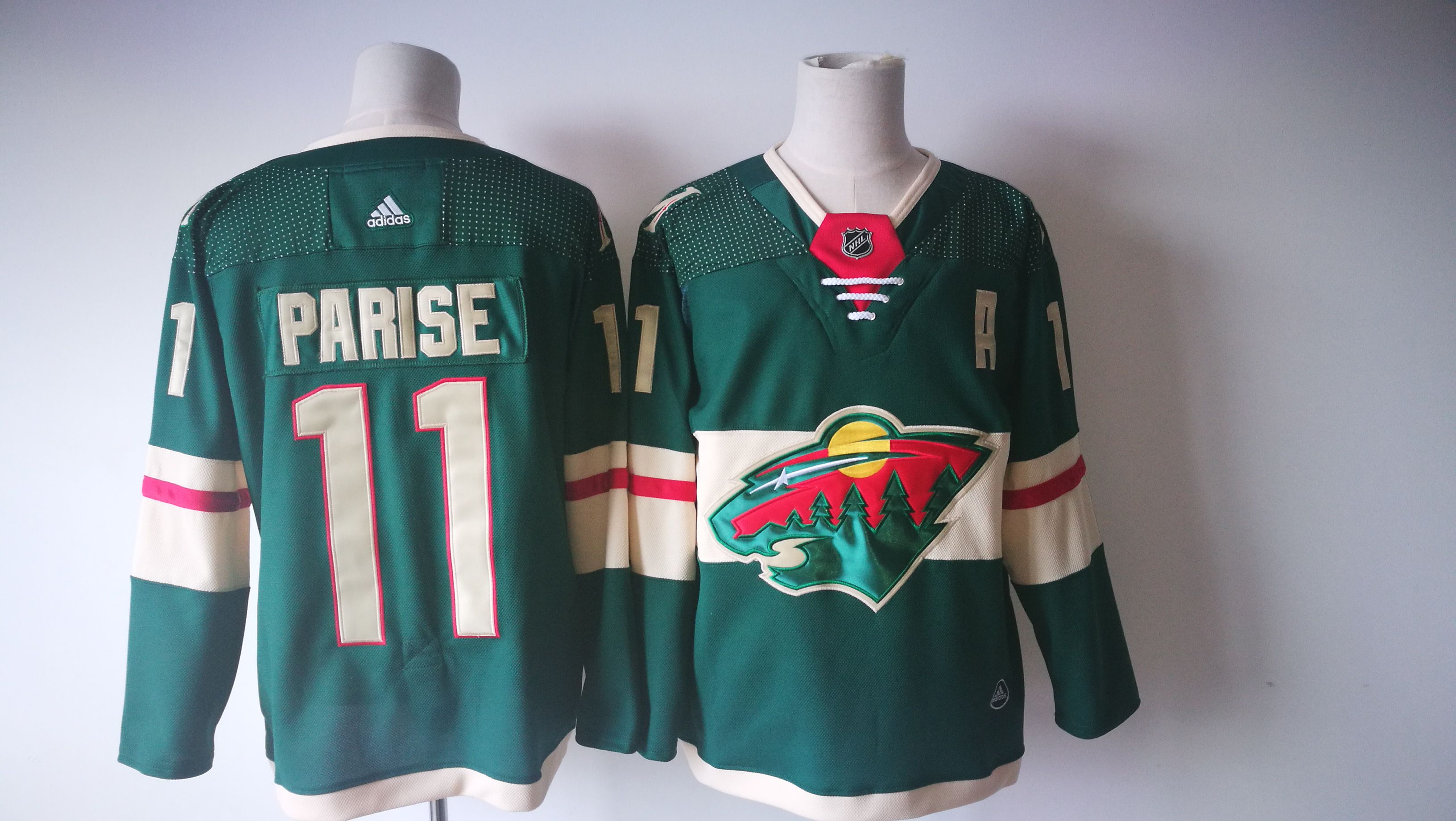 Men Minnesota Wild 11 Zach Parise Green Adidas Hockey Stitched NHL Jerseys