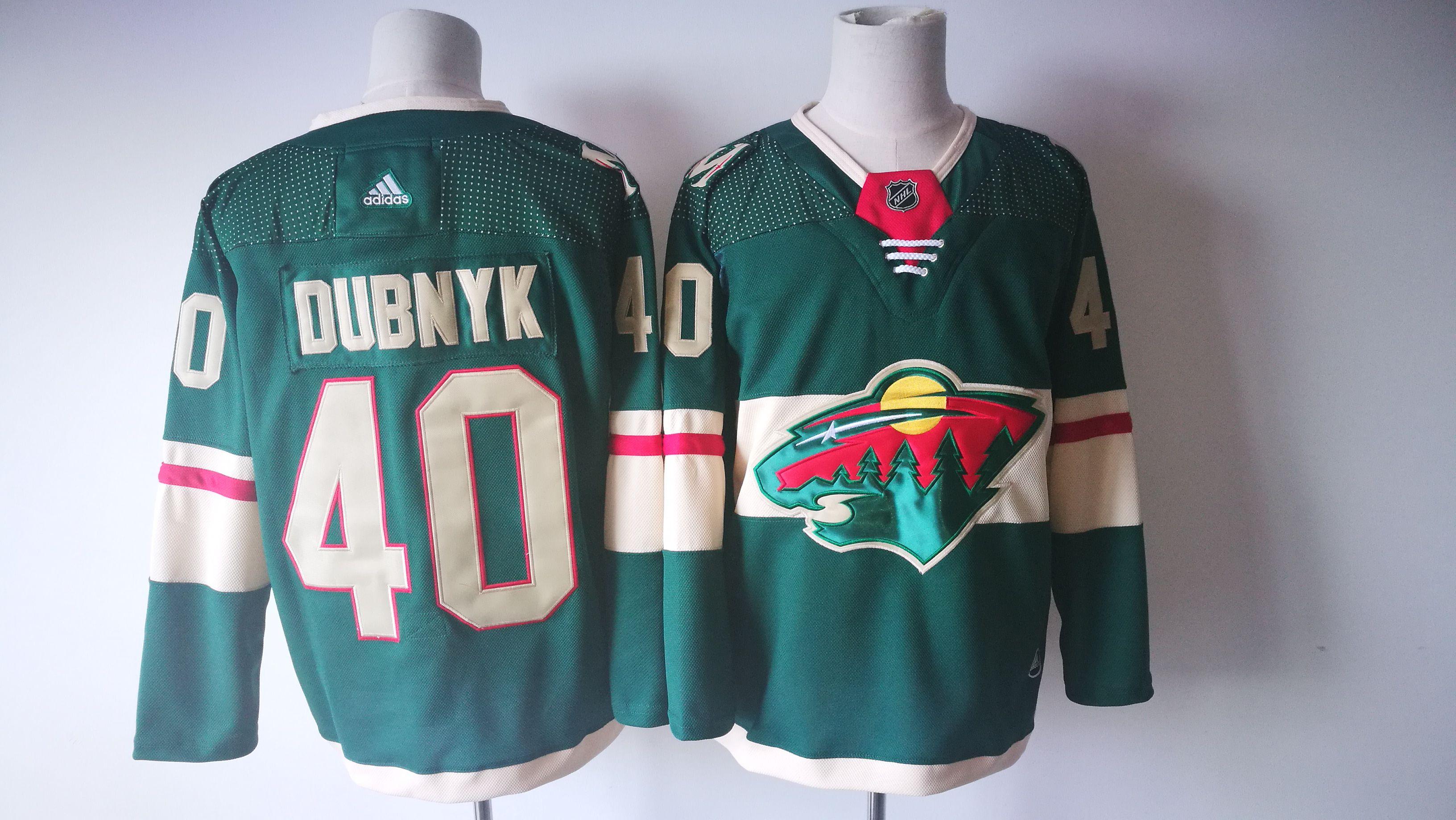 ... men minnesota wild 40 devan dubnyk green adidas hockey stitched nhl  jerseys adceb1098