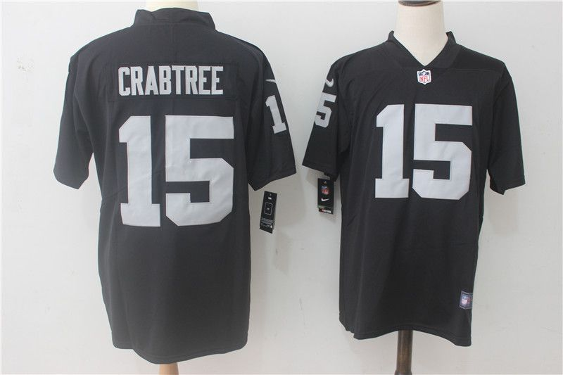 Men Oakland Raiders 15 Crabtree Black Nike Vapor Untouchable Limited NFL Jerseys