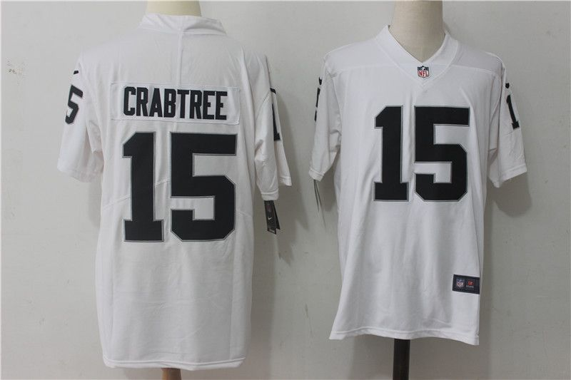 Men Oakland Raiders 15 Crabtree White Nike Vapor Untouchable Limited NFL Jerseys
