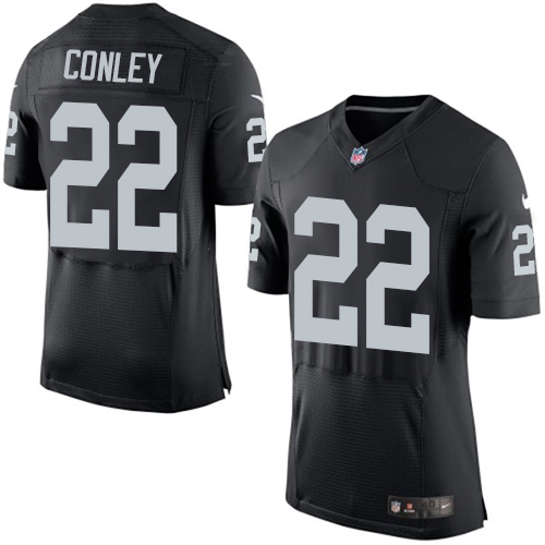 Men Oakland Raiders 22 Gareon Conley Black Team Color Stitched NFL New Elite Jersey