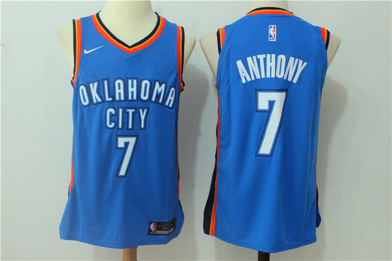 Men Oklahoma City Thunder 7 Anthony Blue New Nike Season NBA Jerseys